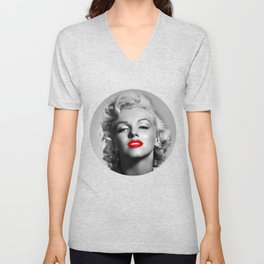 A female mouth - Marylin M. Unisex V-Neck