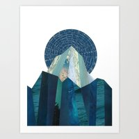 heroes of olympus Art Prints featuring Olympus Rising by Lynette Carson