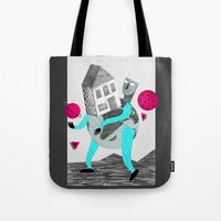 globe Tote Bags featuring GLOBE by Vértice Design Studio