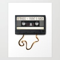 cassette Art Prints featuring Cassette by Word Parlor