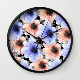 At Peace in My Garden: Floral Pattern Wall Clock