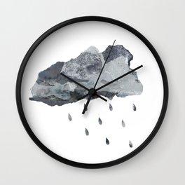 Raincloud Collage Wall Clock