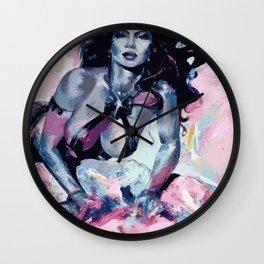 Purple Goddess Wall Clock