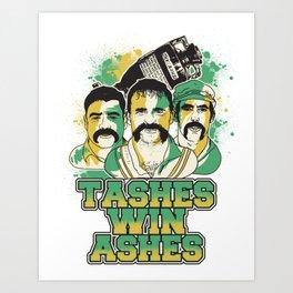 Tashes Win Ashes Art Print
