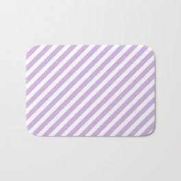 Stripes pastel lilac nursery pattern minimal trendy boho hipster stripe pattern Bath Mat