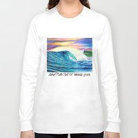 indonesia Long Sleeve T-shirts featuring  Surf Art  Indonesia by Surf Art Gabriel Picillo