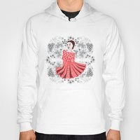 dress Hoodies featuring Red Dress by Andrea Forgacs