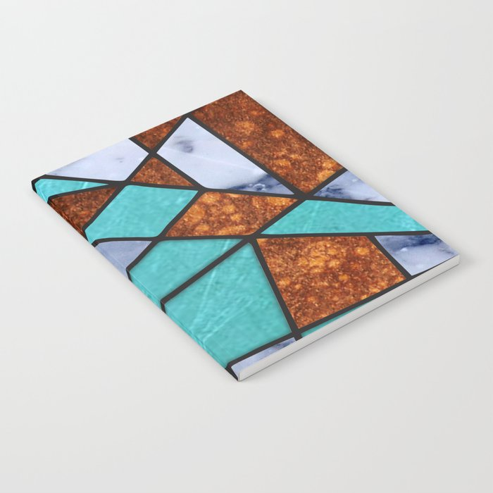 #477 Marble Shards & Copper Notebook