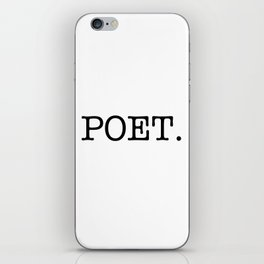 POET. iPhone Skin