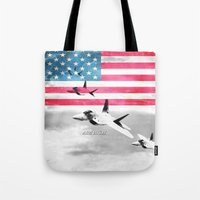 patriots Tote Bags featuring United States Air Force(USAF) by MachoGifts