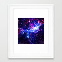 galaxy Framed Art Prints featuring Galaxy by Matt Borchert