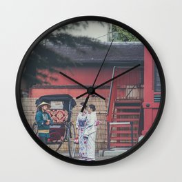 Serene Tokyo Mornings Wall Clock