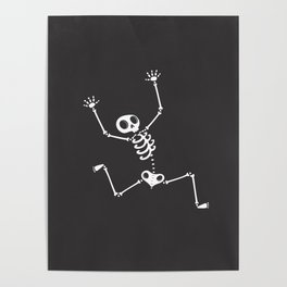 Skeleton on the run Poster