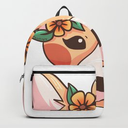 Sweet Dog with flower band on the head Backpack