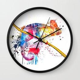 Chameleon Splash of Colors Wall Clock