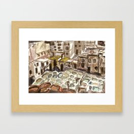 Tannery in Fes, Morocco Framed Art Print