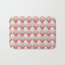 Pale pink abstract striped ornament . Bath Mat