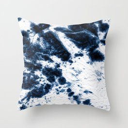 Boho Paper Tie-Dye Throw Pillow