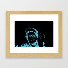 Blue Neon Framed Art Print