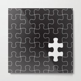 Finding the missing piece II Metal Print