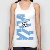 argentina Tank Tops featuring Argentina Football by mailboxdisco