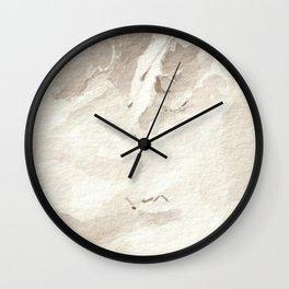 Clear Quartz Crystal Watercolor Wall Clock