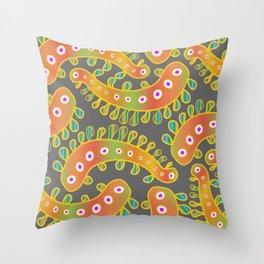 Paisley Germs Throw Pillow