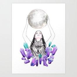 Moon Queen Art Print
