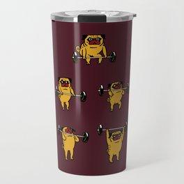 Clean and Jerks Pug Travel Mug