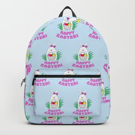 happy easter with funny rabbit Backpack