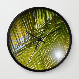 palm+springs Wall Clock
