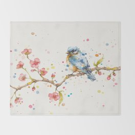 Little Journeys (BlueBird) Throw Blanket