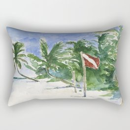 Beach, Tulum, Mexico Rectangular Pillow