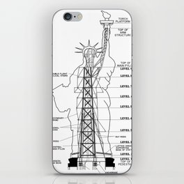 Statue of Liberty Structural Schematic iPhone Skin
