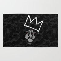biggie Area & Throw Rugs featuring Biggie Basquiat by Ric_Hardwood