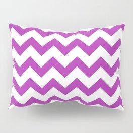 Chevron (Purple & White Pattern) Pillow Sham