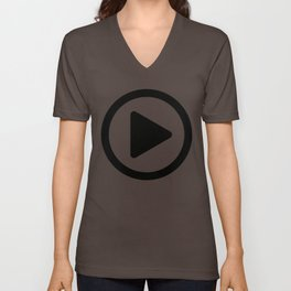 Play Button Unisex V-Neck