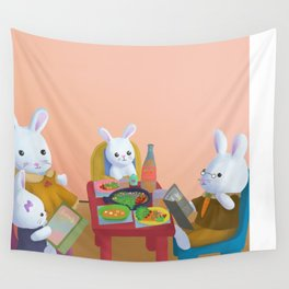 Bunny Breakfast Wall Tapestry
