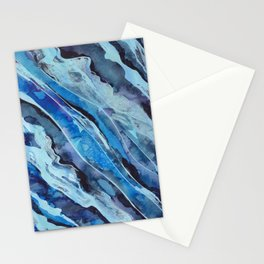 Ble Fonse (Dark Blues in Haitian Creole) Stationery Cards