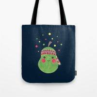 hippie Tote Bags featuring Hippie Pear by haidishabrina