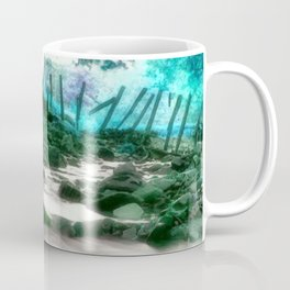 birds foraging Coffee Mug