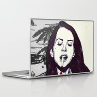 ultraviolence Laptop & iPad Skins featuring The Sad Girl by Robert Red ART