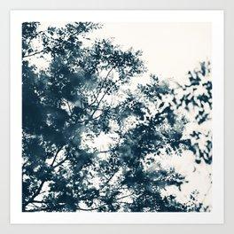 Blue Leaves #1 Art Print