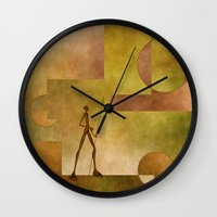 african Wall Clocks featuring African by gabiw Art