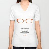 "alex vause V-neck T-shirts featuring ""when you have a connection with someone it never goes away"" Alex Vause OITNB by :: Fan art ::"