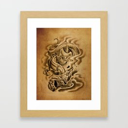 Hannya Dragon Framed Art Print