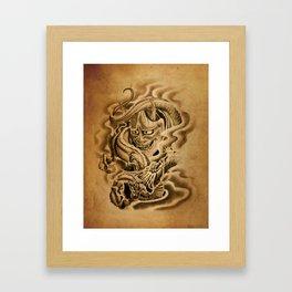 Hannya Dragon Framed Art Print