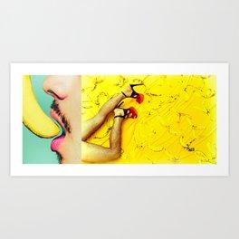 Thou Shall Not Eat Bananas Art Print