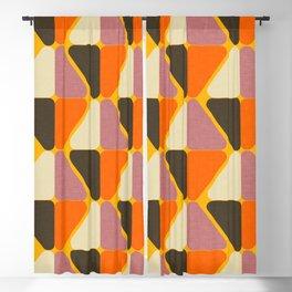 Cube Triangle Mod Orange Blackout Curtain