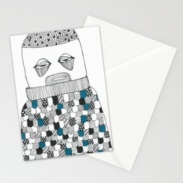 The owl man Stationery Cards